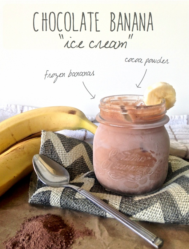 "homemade Banana ""ice cream"""