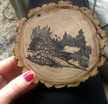 Handmade wood ornaments