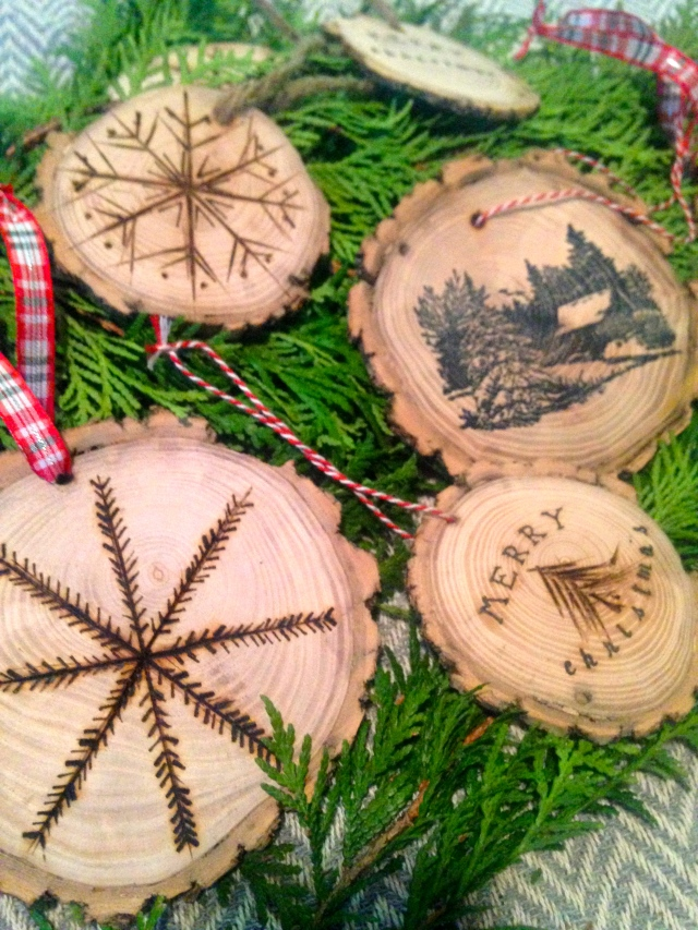 wood burning ornaments