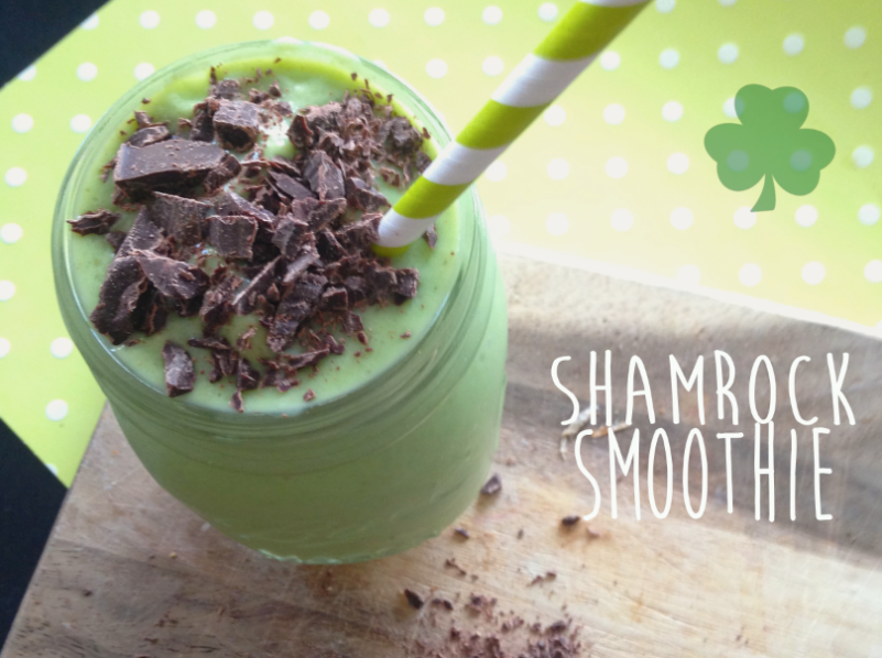 healthy shamrock smoothie